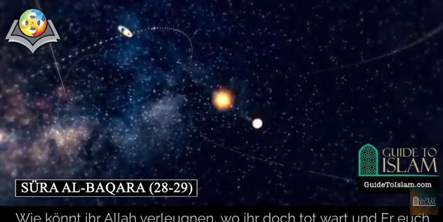 سورة البقرة (28-29) باللغة الألمانية