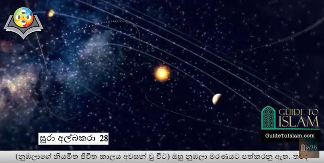 Surah Al-Baqarah (28-29) - Sinhalese translation