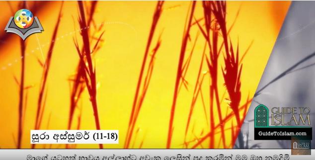 Surah Az-zumar (11-18) - Sinhalese
