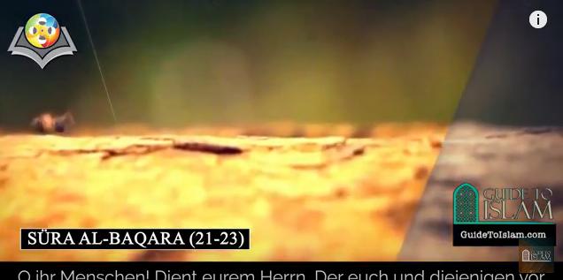 Surah al-Baqarah (21-23) - German translation